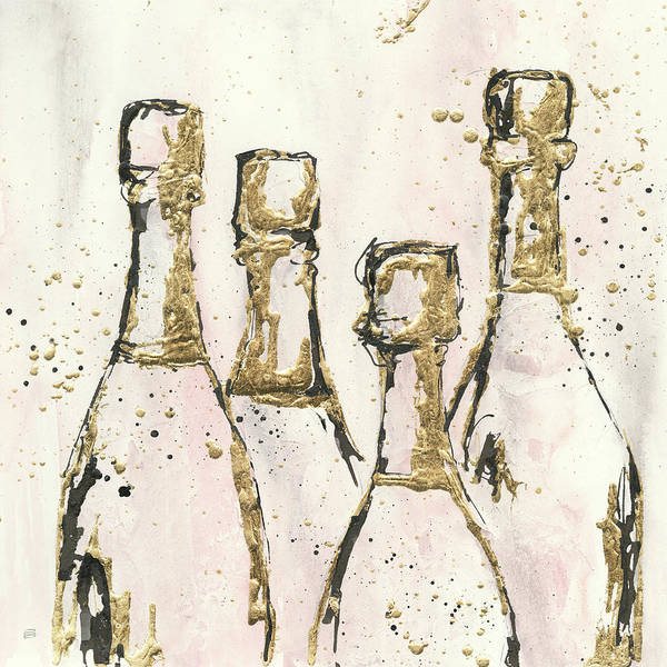 Pink Champagne Painting - Champagne Is Grand I by Chris Paschke