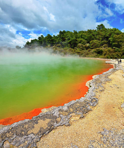 Sulphur Photograph - Champagne Pool, Rotorua, New Zealand by Rusm