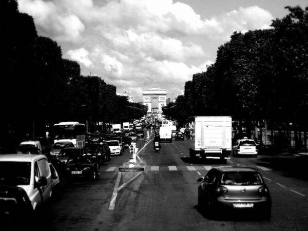 Photograph - Champs Elysees And Arc De Triomphe by Chance Kafka