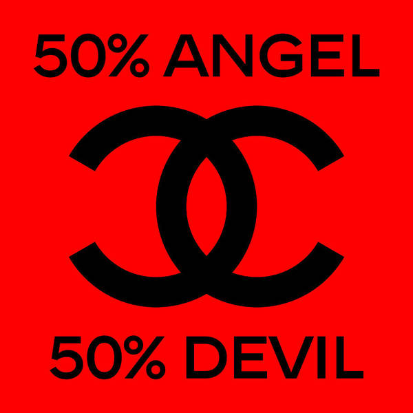 Wall Art - Painting - Chanel Angel Or Devil-5 by Nikita