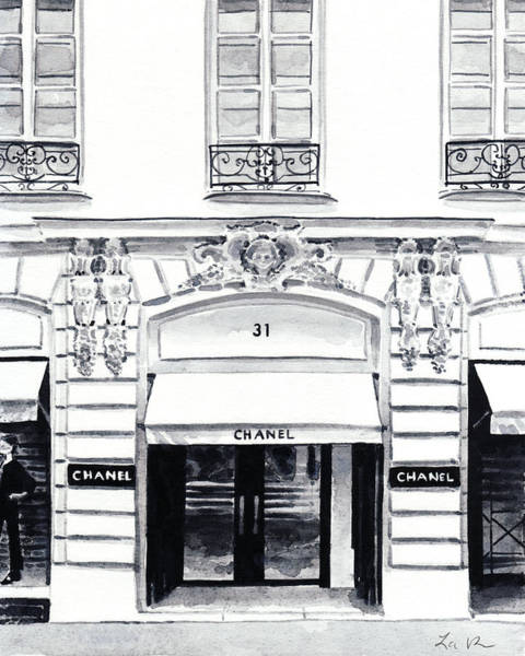 Wall Art - Painting - Chanel Boutique 31 Rue Cambon by Laura Row