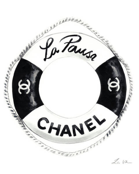 Wall Art - Painting - Chanel Cruise Life Preserver by Laura Row