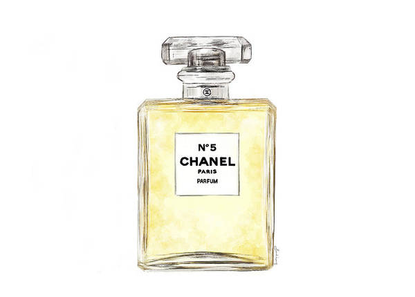 Painting - Chanel No. 5  by Sannel Larson