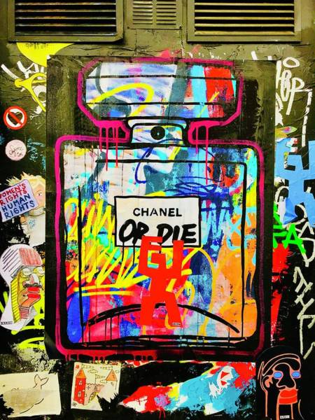 Wall Art - Photograph - Chanel Or Die Graffiti Wall In London  by Funkpix Photo Hunter