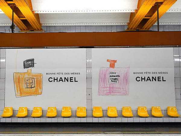 Photograph - Chanel Paris Metro 2 by Andrew Fare