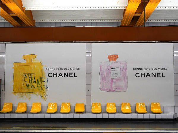 Photograph - Chanel Paris Metro 3 by Andrew Fare
