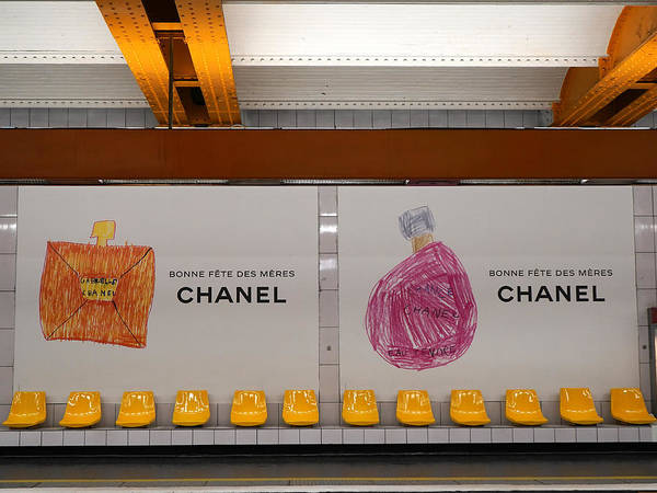 Photograph - Chanel Paris Metro by Andrew Fare