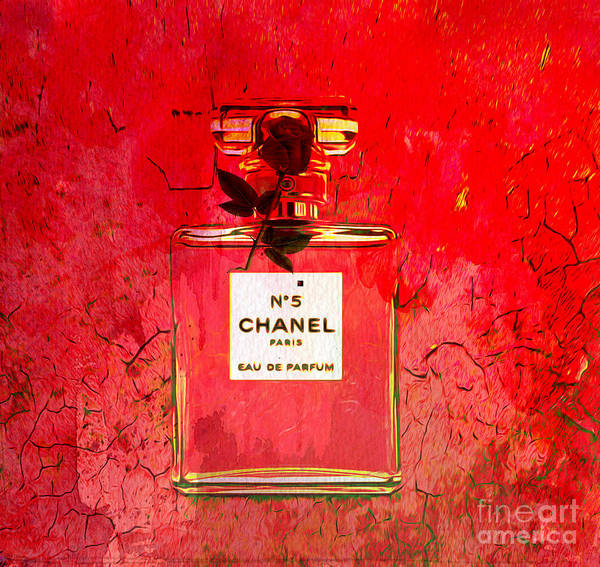 Wall Art - Mixed Media - Chanel Red by Beverly Guilliams