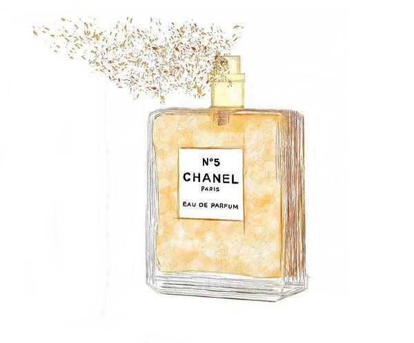 Painting - Chanel Splash by Sannel Larson