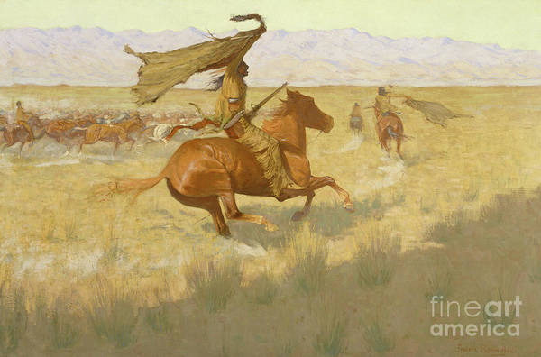 Changing Painting - Change Of Ownership, The Stampede, Horse Thieves, 1903 by Frederic Remington