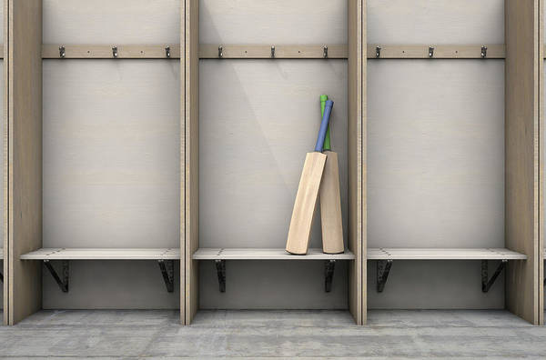 Wall Art - Digital Art - Change Room Cubicles Hangers And Bench by Allan Swart