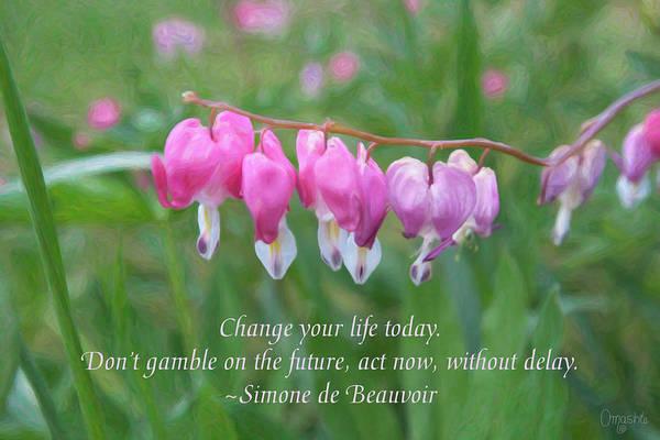 Mixed Media - Changing Fortunes - Motivational Flower Art By Omaste Witkowski by Omaste Witkowski