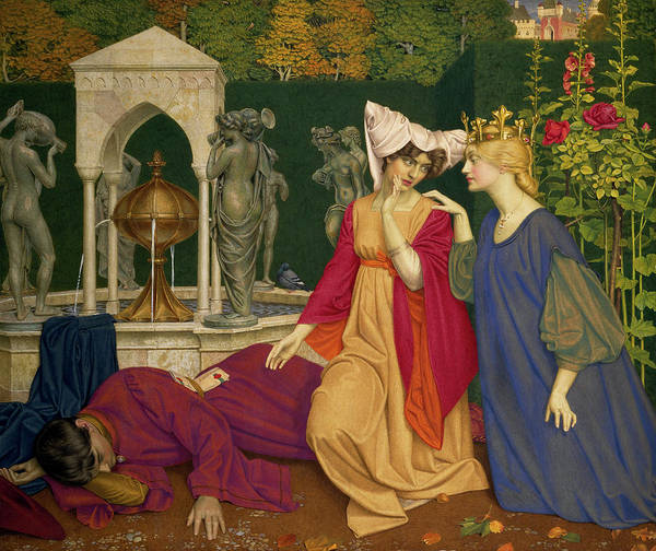 Changing Painting - Changing The Letter by Joseph Southall
