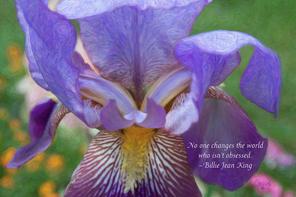 Digital Art - Changing The World - Motivational Flower Art By Omaste Witkowski by Omaste Witkowski