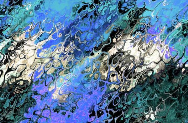 Digital Art - Chaos Abstraction Flip Blue by Don Northup