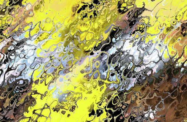 Digital Art - Chaos Abstraction Flip Deep Yellow by Don Northup