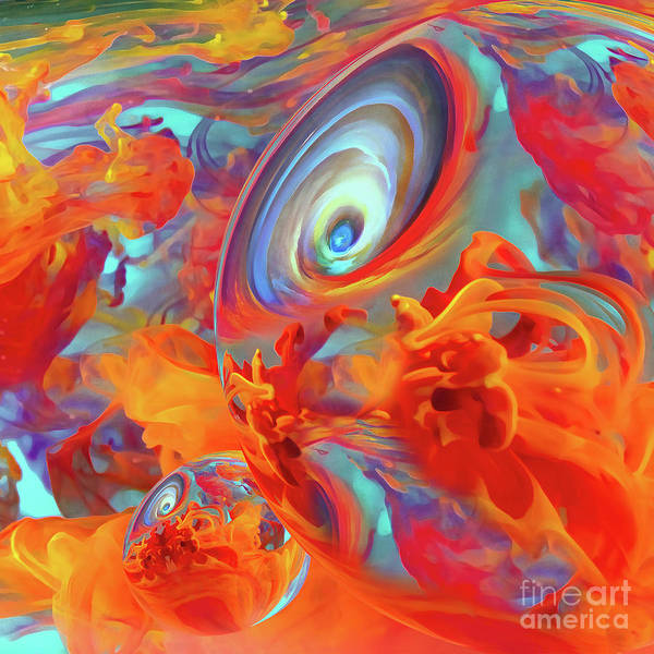 Bright Colorful Mixed Media - Chaos by Jacky Gerritsen