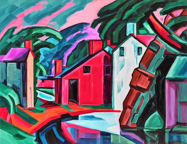 Wall Art - Painting - Character Of A County In Pennsylvania - Digital Remastered Edition by Oscar Bluemner
