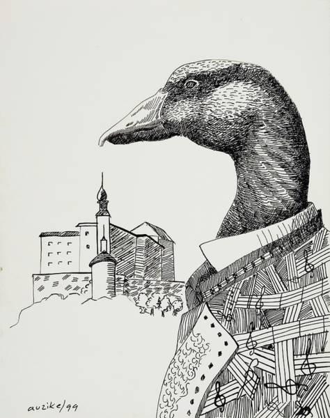 Pencil Drawing Painting - Characters 2, 1999 Pen Nib On Paper by Ignacio Auzike