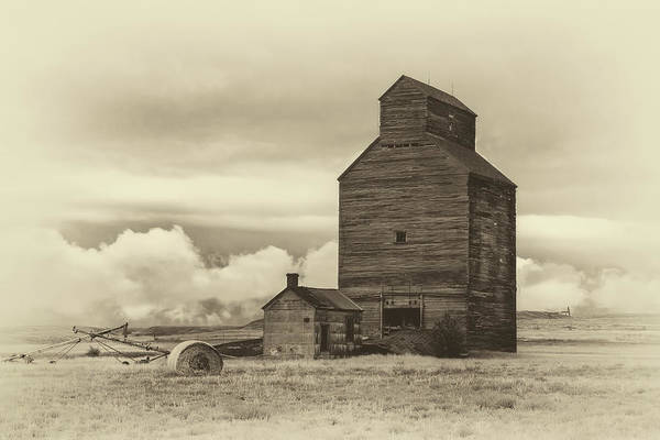 Photograph - Charbonneau, North Dakota Bw by Harriet Feagin