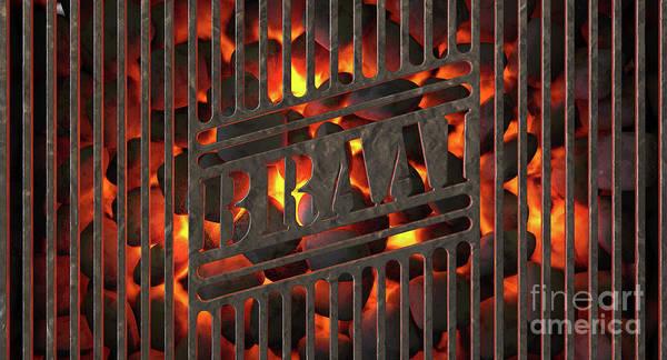 Wall Art - Digital Art - Charcoal Fire And Braai Grid by Allan Swart