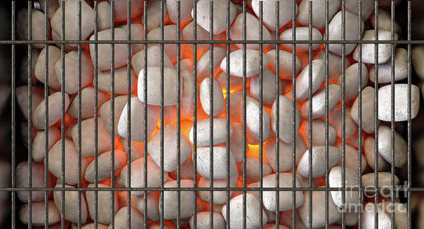 Wall Art - Digital Art - Charcoal Fire And Grid by Allan Swart
