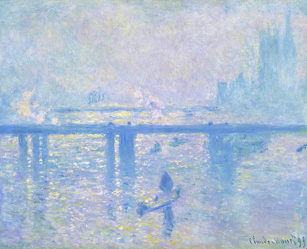 Smoke Fantasy Wall Art - Painting - Charing Cross Bridge - Digital Remastered Edition by Claude Monet