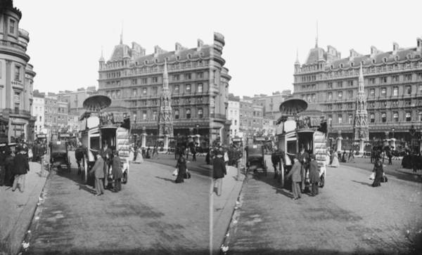 Station Of The Cross Photograph - Charing Cross Station by London Stereoscopic Company
