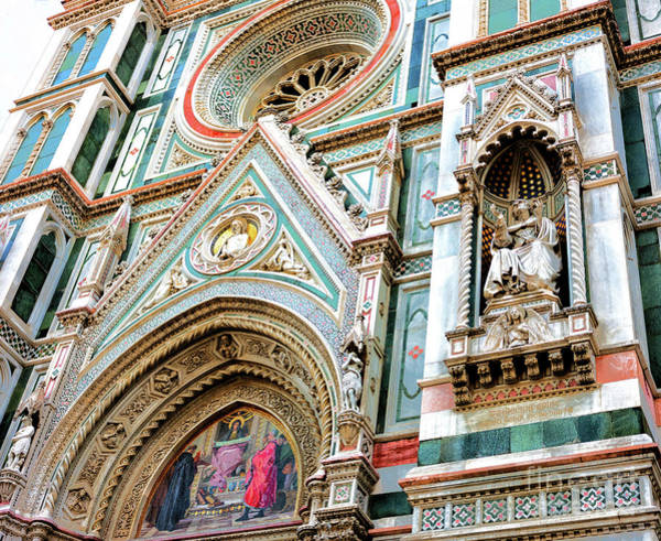 Photograph - Charity Among The Founders Of Florentine Philanthropic Institutions At The Florence Cathedral by John Rizzuto