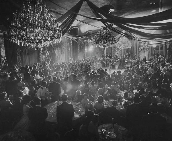 Crowd Photograph - Charity Ball At Waldorf Astoria.  Photo by Yale Joel