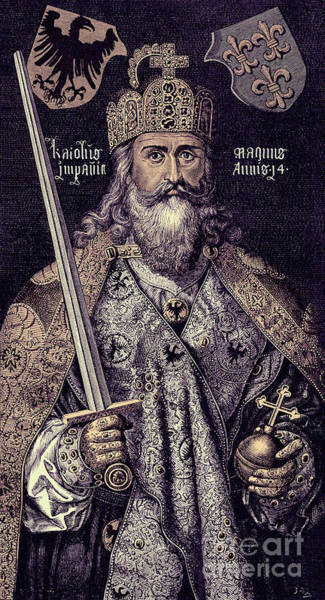Wall Art - Drawing - Charlemagne by European School