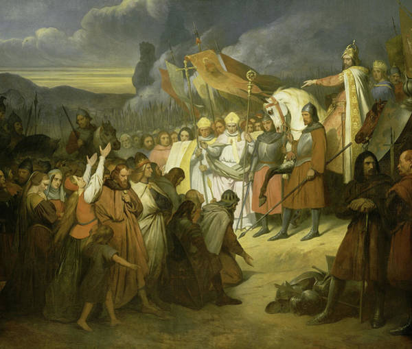 Wall Art - Painting - Charlemagne Receiving The Submission Of Witikind At Paderborn, 785 by Ary Scheffer