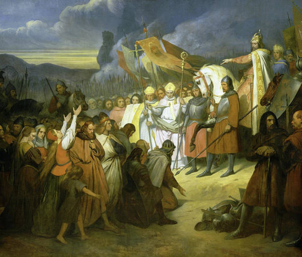 Wall Art - Painting - Charlemagne Recoit A Paderborn La Soumission De Witikind, Roi Des Saxons, 785 by Ary Scheffer