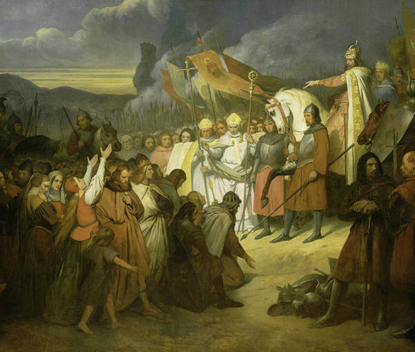Wall Art - Painting - Charlemagne Recoit A Paderborn La Soumission De Witikind, Roi Des Saxons by Ary Scheffer