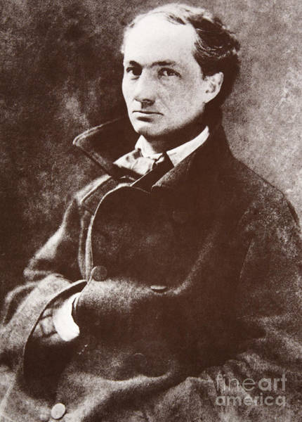 Wall Art - Photograph - Charles Baudelaire, 1855 Photogravure by Nadar