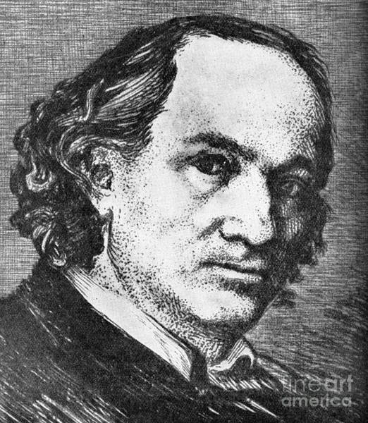 Wall Art - Drawing - Charles Baudelaire Portrait French Poet by French School