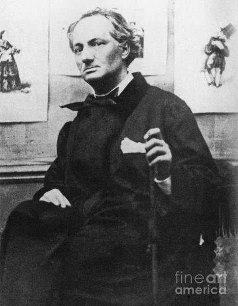 Wall Art - Photograph - Charles Baudelaire With Engravings by Etienne Carjat