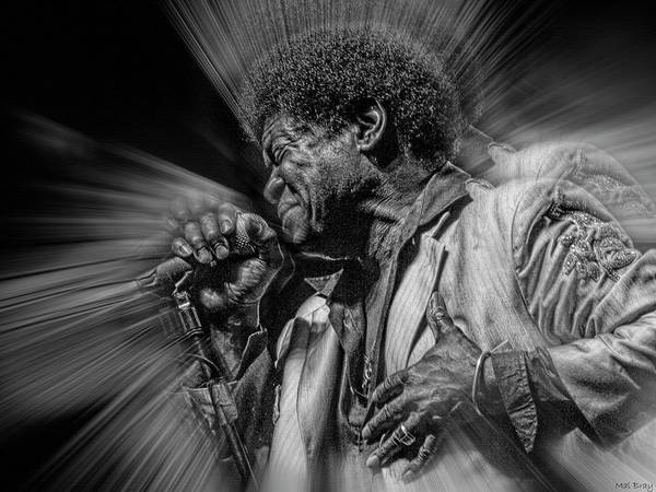 Funk Mixed Media - Charles Bradley by Mal Bray