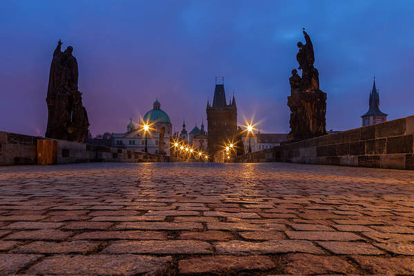 Wall Art - Photograph - Charles Bridge At Twilight by Andrew Soundarajan
