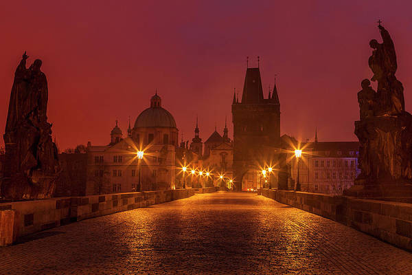 Wall Art - Photograph - Charles Bridge In Prague by Andrew Soundarajan