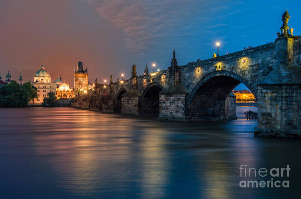 Wall Art - Photograph - Charles Bridge In Prague, Czech by César Asensio