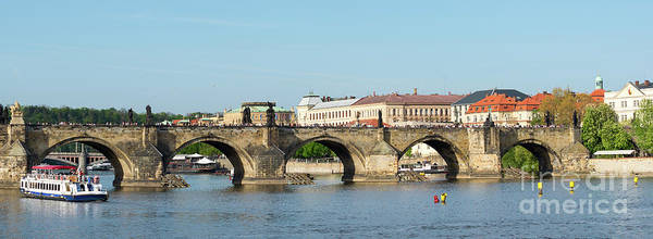 Photograph - Charles Bridge In Prague by Les Palenik