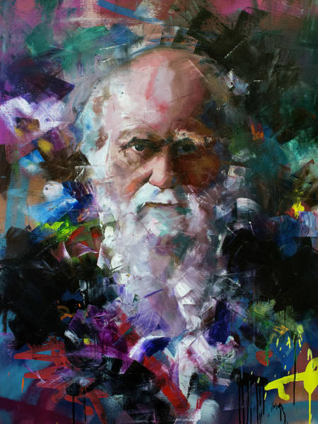 Wall Art - Painting - Charles Darwin by Richard Day