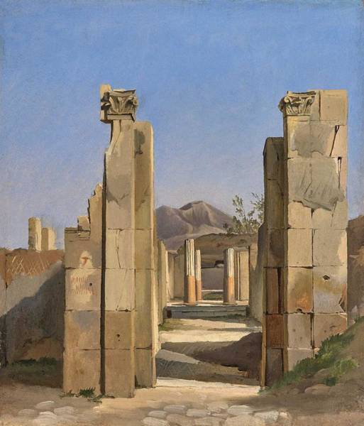 Wall Art - Painting - Charles Gleyre Attributed  Chevilly 1806 - 1874 Paris  Entrance To The House Of Pansa, Pompeii, Apri by Celestial Images