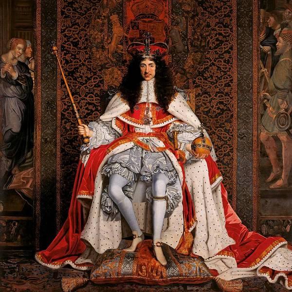 John Michael Wright Wall Art - Painting - Charles II Of England by John Michael Wright