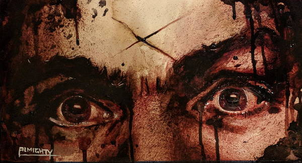 Painting - Charles Mansons Eyes Fresh Blood by Ryan Almighty