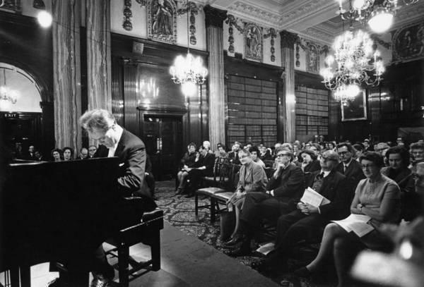 Photograph - Charles Rosen Concert by Erich Auerbach