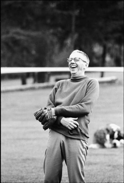 Laughing Photograph - Charles Schulz Laughs by Bill Ray