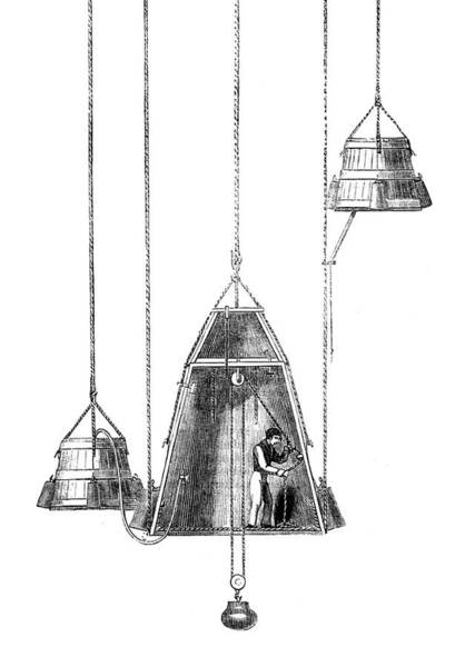 Wall Art - Photograph - Charles Spalding, Diving Bell by Science Source