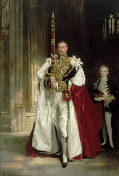 Wall Art - Painting - Charles Stewart, Sixth Marquess Of Londonderry, Carrying The Great Sword Of State, 1902 by John Singer Sargent